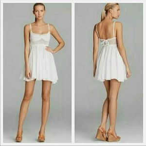 RESELLING* Surf Gypsy White Crochet Dress